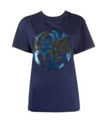 alberta ferretti camiseta love com paetês - azul