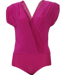 body liz transpassado renda rosa