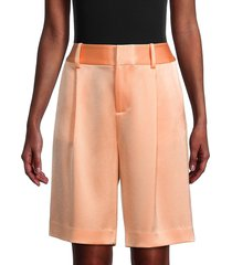 alice + olivia by stacey bendet women's eric bermuda shorts - light peach - size 2
