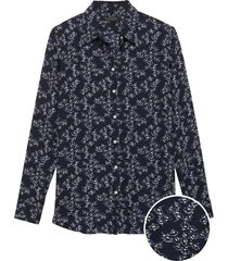 blusa dillon marilyn floral small azul banana republic