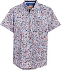 joe joseph abboud multicolor floral short sleeve slim fit sport shirt