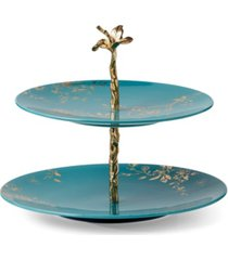 lenox sprig & vine two tiered served