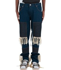 jeans high waisted fringed