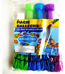 111pcs magic water balloons- fill & ties a bunch of water balloons in one minute