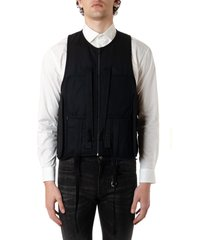 1017 alyx 9sm black strap-detail bullet vest