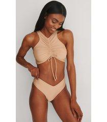 na-kd swimwear återvunnen v-formad bikinitrosa - beige