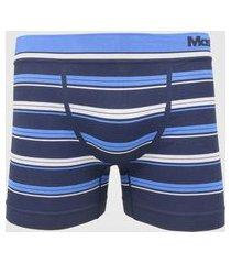cueca mash boxer listras sem costura azul