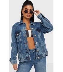 river island denim trucker jacket jeansjackor