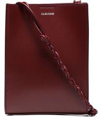jil sander tangle logo-print crossbody bag - red