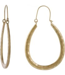 the sak gold-tone u shape hoop earrings