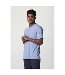 camiseta hering básica manga curta em malha h+ azul