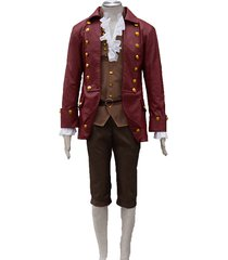 2017 beauty and the beast cosplay gaston halloween costumes adult party outfit