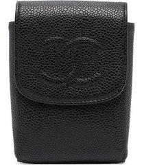 chanel pre-owned 2009 cc logo cigarette case - black