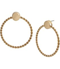 jessica simpson twist doorknocker earrings