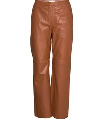 marvella pa leather leggings/broek bruin part two