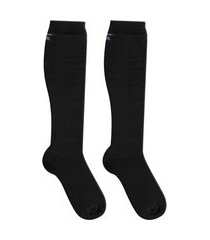 meia de compressão preta ciclismo corrida duck meias