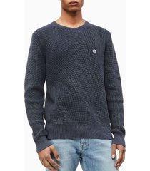sweater regular dye azul calvin klein
