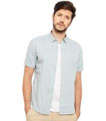 camisa esprit casual blanco - calce regular