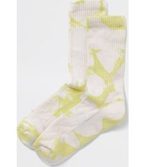 river island mens lime tie dye tube socks