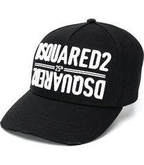 dsquared2 25 black double logo baseball cap