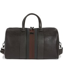 men's ted baker london beaner faux leather duffle bag - brown