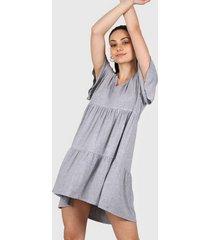 vestido gris al aniz roma