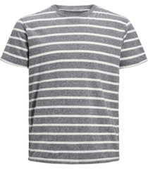 jack & jones men's stripe crew neck organic short sleeve t-shirt