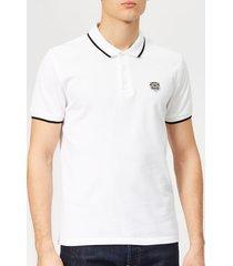 kenzo men's tipped polo shirt - white - xxl - white
