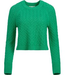 alice+olivia leta textured jumper - green