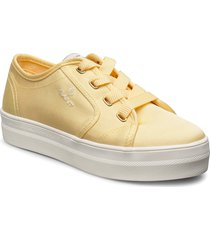 leisha low lace shoes låga sneakers gul gant