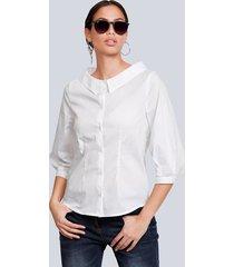 blouse alba moda wit