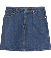 falda oscura denim color azul, talla 10