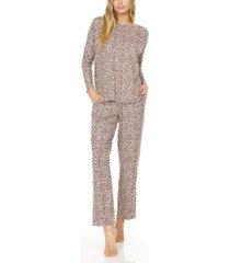 flora nikrooz collection women's marie printed knit pajama set