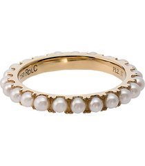 18kt gold and pearl eternity ring