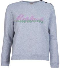 barbour poole overlayer cotton logo sweatshirt