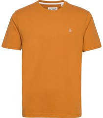 small logo t-shirt t-shirts short-sleeved brun original penguin