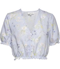 alice top blouses short-sleeved blå by malina