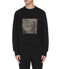 ink boxed camouflage print sweatshirt