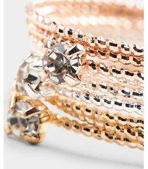women's jacquelyn multi-mixed plating bracelets by francesca's - size: 8