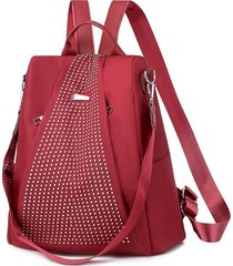 mochilas de mujer oxford mochila impermeable nuevas-rojo
