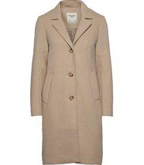 anf womens outerwear wollen jas lange jas beige abercrombie & fitch