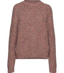 suvia knits crew neck jumper stickad tröja brun french connection