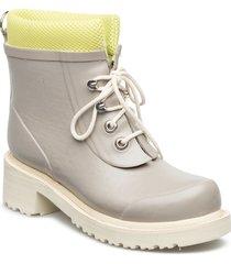 women short rub boots regnstövlar skor beige ilse jacobsen
