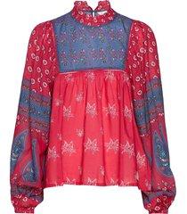 la vie boheme blouse blouse lange mouwen rood odd molly