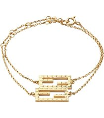 fendi ff friendship bracelets - gold