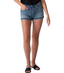 women's silver jeans co. avery high waist denim shorts, size 32 - blue