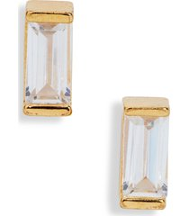 nordstrom 0.50ct tw cubic zirconia sterling silver baguette stud earrings
