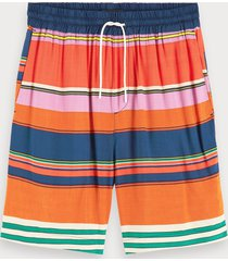 scotch & soda striped viscose shorts