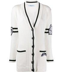 blumarine mid-length cardigan - white