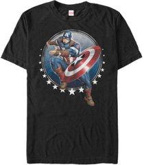 marvel men's comic collection captain america tossing shield short sleeve t-shirt